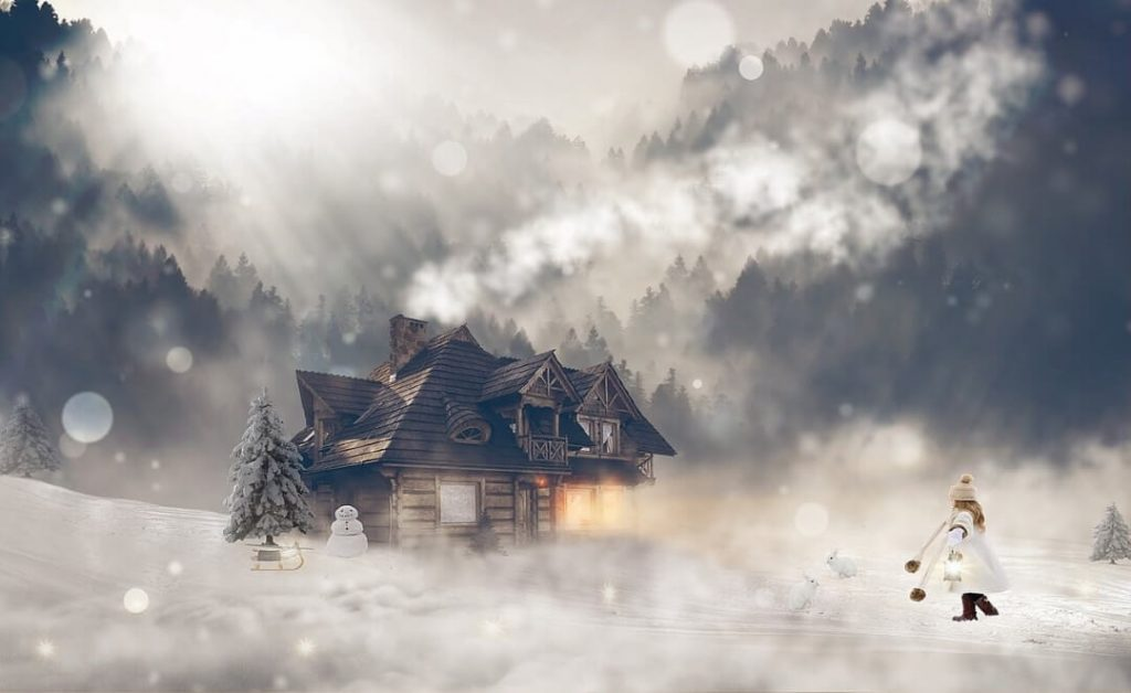 House in Winter Cold